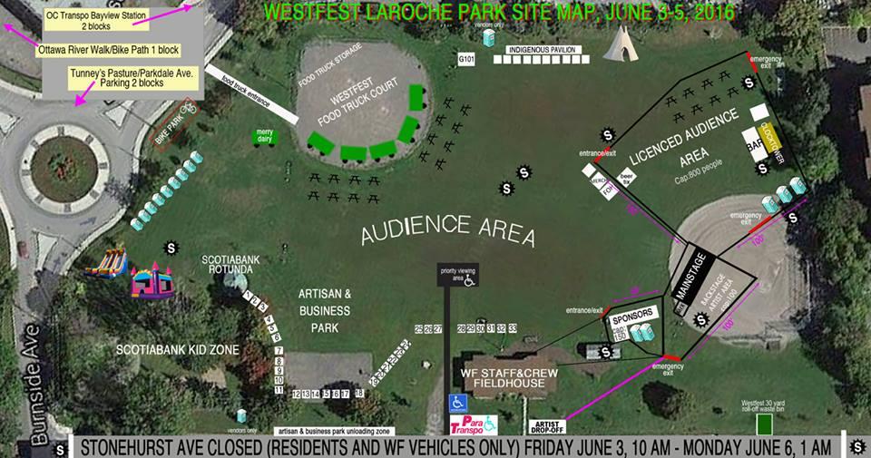 Laroche Park Westfest layout