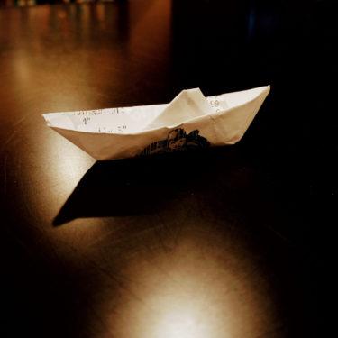 Image of a local Farm Boy receipt as a paper boat